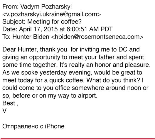Hunter Biden business partners Burisma Joe Biden