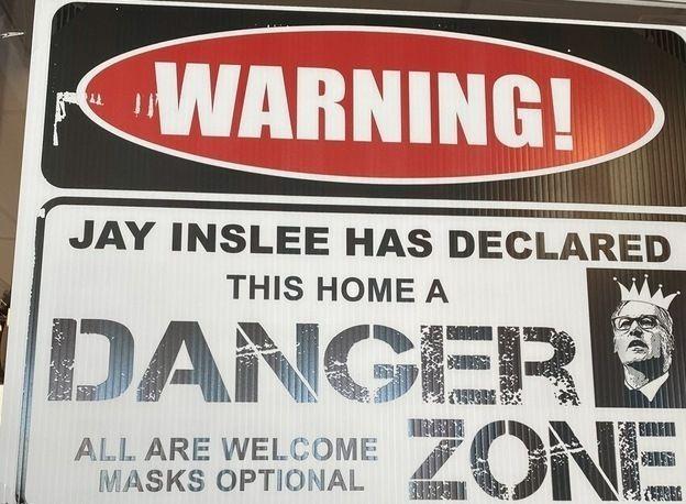 warning sign diner