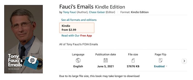 Fauci Emails Book