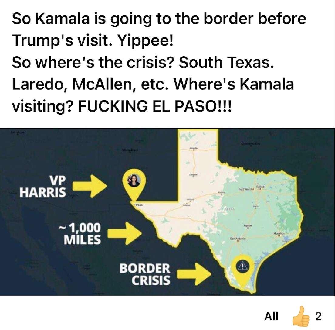 Harris Visits Border