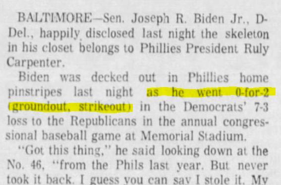Biden Lies About Baseball