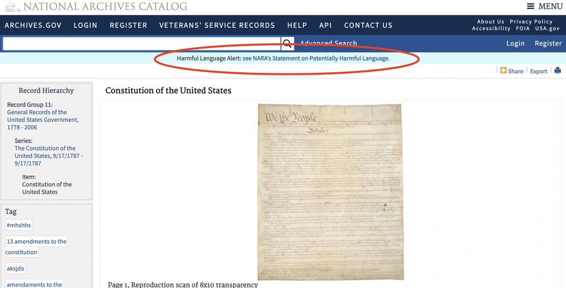 Constitution Is Hate Speech